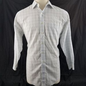 Brooks Brothers White/Brown Non Iron  L/S Shir